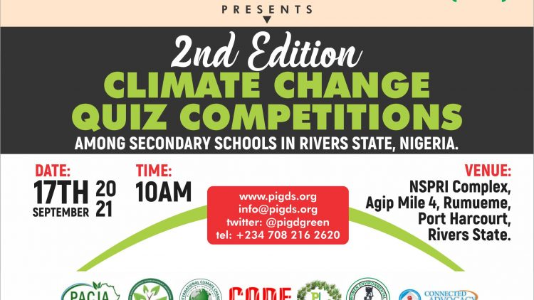 Climate Change Quiz Competition amongst selected secondary schools in Rivers State, Nigeria. (2nd Edition)